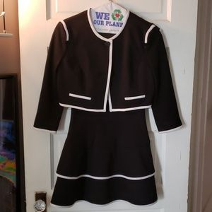 Forever 21 collection black white dress jacket S
